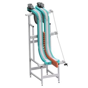 ALUTEC KK - lamelový vynášecí dopravník Aluflex vertical
